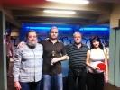 zleva Stočes, Amort, Pellant a Ivanka Courtonová v kulečníkové billiardovém klubu Harlequin Praha 10