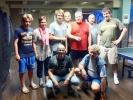 Turnaj 16.7.2013 zleva T. Havlena, S. Havlenová, H. Havlena, Rosa, Courton, Tschunko, Marek, sedí Šinákl a Kroihler.