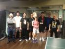 První turnaj ve stolním tenise v roce 2014 v kulečníkovém billiardovém klubu Harlequin