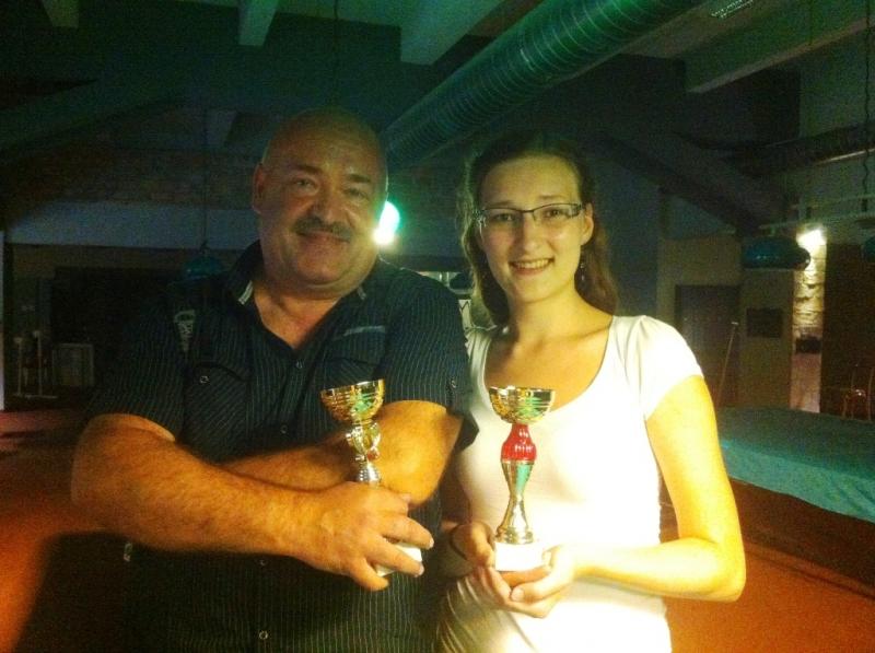 Láďa Janeček a Ivanka Lázníková billiard - kulečník - ping pong Praha 10