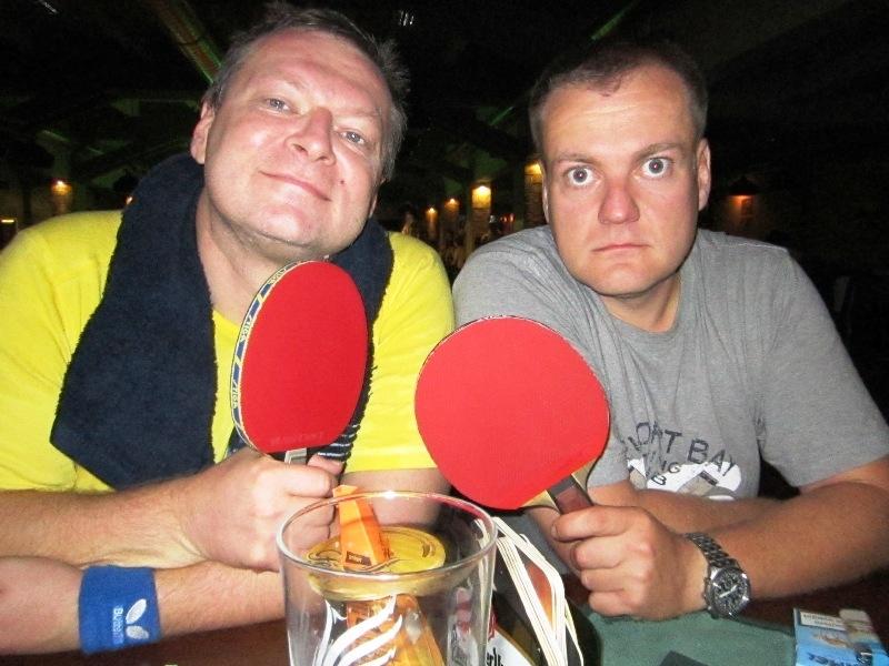 Ivan Courton a Petr Mandlík - kulečník, billiard, ping pong Praha 10, Harlequin Praha