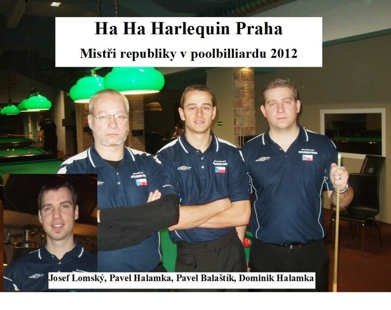 HA HA Harlequin Praha-mistři republiky týmů 2012 - kulečník, billiard