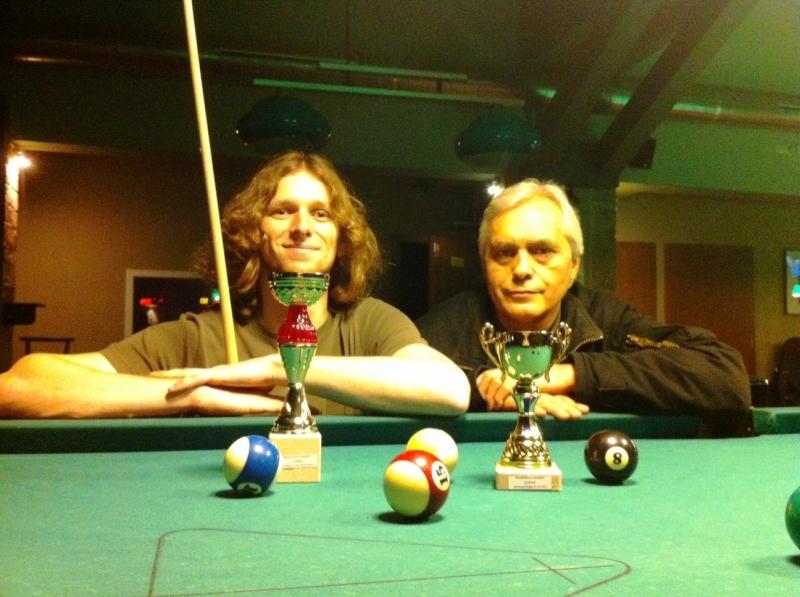 Finalisté turnaje 23.12.2012 zleva Libor Břicháček a Jirka Vích, gratulujeme