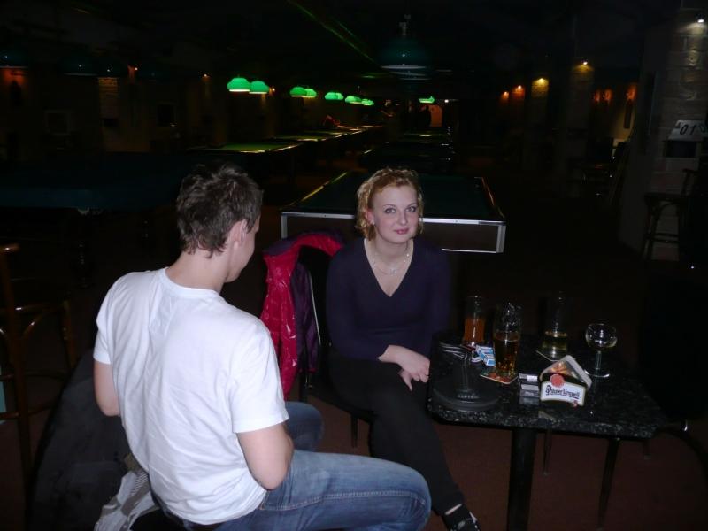 Ruda Kováč s přítelkyní kulečníkový billiardový klub Harlequin Praha 10