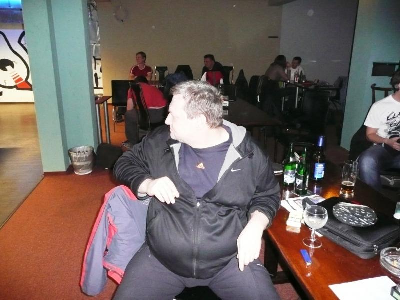 Ivan Courton jako divák kulečníkový billiardový klub Harlequin Praha 10