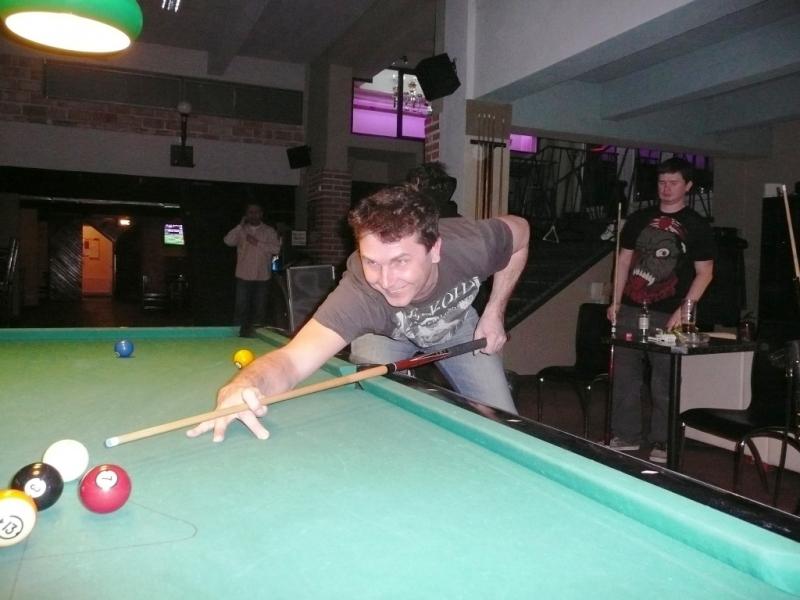 Vojta Hraběta v Harlequinu Praha 10, čerstvé výsledky kulečník, ping pong.