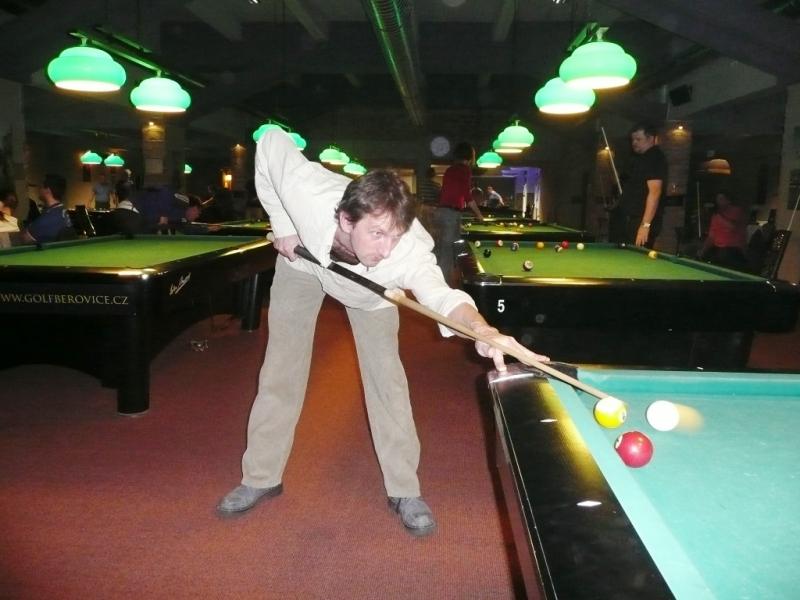 Petr Klubíčko v Harlequinu Praha 10, čerstvé výsledky kulečník, ping pong.