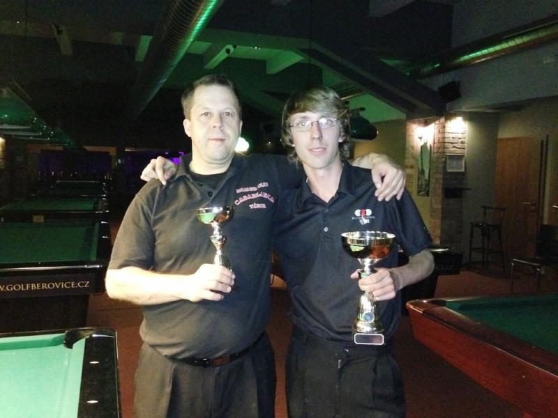 Honza Suchánek a Honza Meisner - Mistrovství Prahy 10 v poolbilliardu 2013
