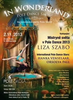 2.11.Mistryně světa v Pole Dance- akrobacie na tyči v kulečníkový billiard klub Harlequin Praha 10