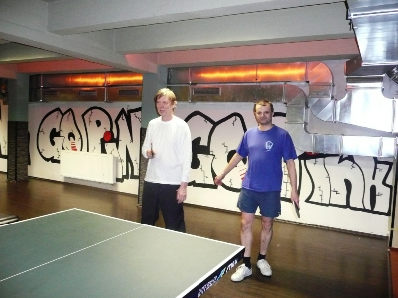 Jarda Vašák a Petr Češka kulečníkový billiardový ping pongový klub Harlequin Praha 10
